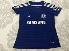 Womens Authentic Adidas Chelsea Samsung blue soccer jersey #22 Willian