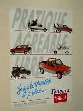 Prospectus Auto Microcar TEILHOL Tangara 2 CV Citroen  Voiturette brochure