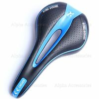 Bicycle Bike Cycle MTB Saddle Road Mountain Sports Soft Gel Pad Seat Blue UK