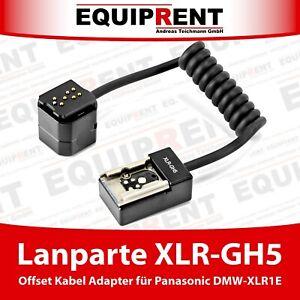 Lanparte XLR-GH5 Offset Audio Adapter Kabel für Panasonic DMW-XLR1E (EQD65)