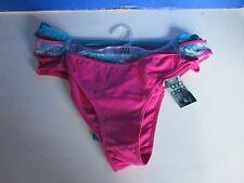 ANA GRANT~3 Pack~Pink, Blue, Blue Floral~ BIKINI THONG PANTIES~Women's XL~NWT
