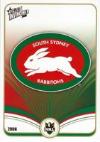 ✺Mint✺ 2006 SOUTH SYDNEY RABBITOHS NRL Card CLUB LOGO