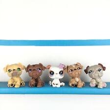 Lot 5 Littlest Pet Shop 107 881 2106 607 2283 LPS Bulldog Set / Chien Bouledogue