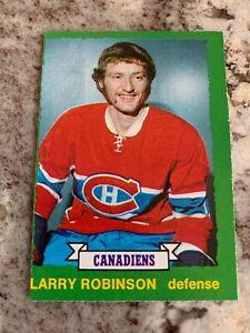 1973/74 O-Pee-Chee Larry Robinson RC 237 Canadiens