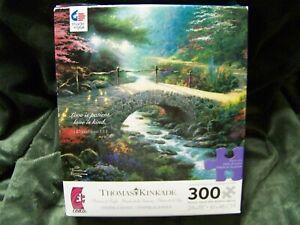 """Ceaco Thomas Kinkade """"Bridge Of Faith"""" 300 Oversized Pieces Puzzle - 24"""" X 18"""""""