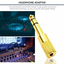 SMALL to BIG Headphone Adapter Converter Plug 3.5mm to 6.35mm Jack Audio GOLD GN