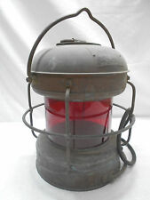 """Vintage Copper Ship's Light """"Red Light"""" Lamp Electric Red Japanese  #40"""