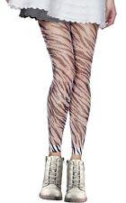 Fishnet Zebra Print Footless Tights
