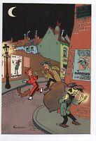 Carte Postale Trésors du Journal de Spirou n°19. Couverture allbum 37. FRANQUIN