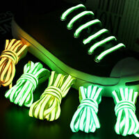 Laser Luminous Shoes Laces Personality Tide Semicircle Flat Sports Shoeslaces#