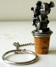Koala and Baby Bottle Stopper - Pewter