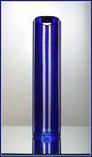 Vintage Deep COBALT ROYAL BLUE Pillar Vase CUT TO CLEAR CRYSTAL Lausitiz GERMANY