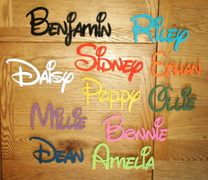DISNEY Wooden Personalised Name Plaques Words/Letters Wall/Door Art/craft/Sign