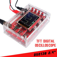 "Fully Welded DSO138 2.4"" TFT Digital Oscilloscope 1Msps & Probe Kit Acrylic Case"