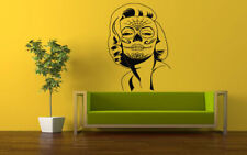 Wall Vinyl Sticker Decals Mural Room Design Art Marilyn Tattoo Face    bo611