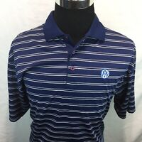 Tri-Mountain Volkswagen Polo Short Sleeve Shirt VW Blue Large U15