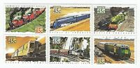 AUSTRALIA 1993 - TRAINS IN AUSTRALIA - SE-TENANT BLOCK OF 6 x 45 cent MNH STAMPS