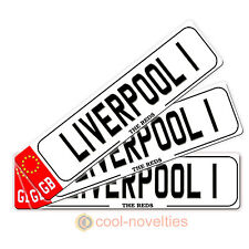 "MINI NOVELTY NUMBER PLATE / BOOKMARK  "" LIVERPOOL 1 "" GIFT FOR FOOTBALL FANS"