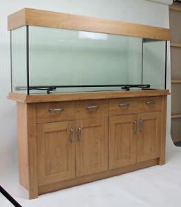 Ex Display Aqua One Oakstyle 300L Oak Fish Tank Aquarium LED Lights 5ft 150cm