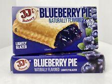 JJ's Bakery Lightly Glazed Blueberry Pies 2 Pack 4oz Each Dessert Snack Food
