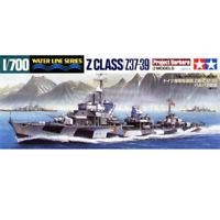 "Tamiya 31908 German Destroyer Z Class (Z37-39) ""Project Barbara"" 2 Models 1/700"