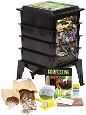 Worm Factory 360 Composter - Black Complete WORM Farm Starting Kit