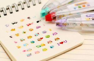 Animals Press Pen Correction Decorative Tape White School Supply DIY Supply Gift