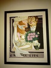 GIUSEPPE MIGNECO serigrafia 60x75 del 1980 incorniciata  / fai la tua offerta