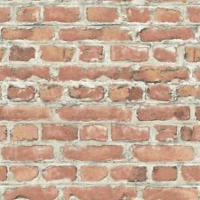 NUOVO Rasch PORTAFOGLIO TERRACOTTA ROSSO Muro di mattoni realistica Stampa Carta Da Parati 235203