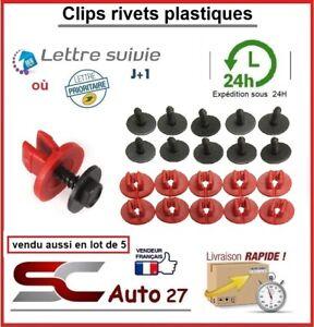 Fixation plastique pour tablier de véhicule motorisé avec vis métal en lot de 10