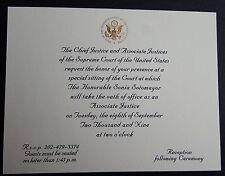 Rare Invitation Special Sitting U.S. Supreme Court Justice Sonia Sotomayor 2009