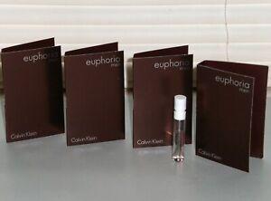 EUPHORIA Calvin Klein Men's eau de Toilette Sample, Spray Samples (4) X .04 oz.