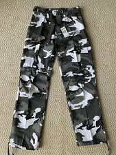 NWT Men's Regal Wear Black White Camouflage Camo Cargo Pants ALL SIZES/LENGTHS