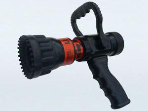 "Flush-Fog-Stream Fire Fighting Nozzle - Suits 1.5"" Hose, 150 - 300L/min"