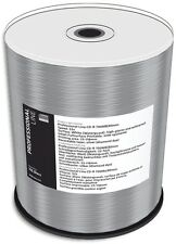 100-Pak =WATERGUARD & GLOSSY= White Inkjet Hub =DIAMONDSILVER= 52X 80-Min CD-Rs