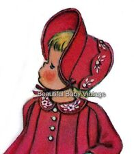 Vintage McCalls Baby SEWING PATTERN Toddler Coat Jacket Bonnet Size 1-2 COPY