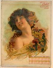 CALENDRIER 1903 OFFERT PAR PICHOT