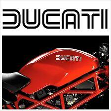 2 Adesivi serbatoio DUCATI Monster HOLD STYLE scritte motorcycle tank stickers