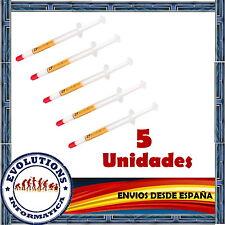 5 JERINGAS PASTA TERMICA SILICONA 1GR CALIDAD PROCESADORES ORDENADOR PC AMD