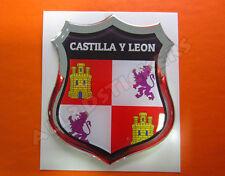 Pegatina Emblema 3D Relieve Bandera Castilla y Leon - Todas Banderas del MUNDO