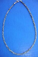 "Western Jewelry 18"" Braided Salt N Pepper Horse Hair 4 MM Necklace"