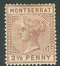 Montserrat 1880 red-brown 2.5d crown CC watermark mint SG4