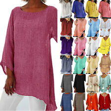 Plus Size Womens Long Sleeve Tunic Shirt Loose Pullover Blouse Ladies Casual Top