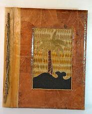 Fotoalbum 30x36 cm RIESIG Natur aus Blättern + Holz HANDARBEIT 80 Fotos ! RD-497