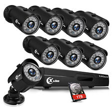 Xvim 1080P Hdmi 8Ch Cctv Dvr 1920Tvl Night Vision Home Security Camera System Us