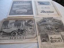 4  PUBLICITES PRESSE AUTOMOBILES BERLIET ANNEES 20