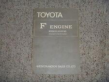 1969 Toyota Land Cruiser FJ40 FJ55 F Engine Service Repair Manual 1970 1971 1972