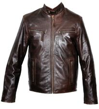 LEATHER JACKET ANTIQUE BROWN COW FASHION BIG FIT LEATHER FASHION JACKET