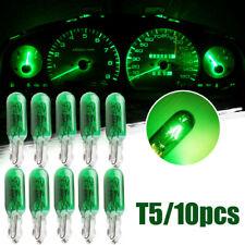 10X Green T5 12V Car Dashboard Dash Panel Gauge Halogen Bulb Car Accessories New