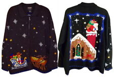 Ugly Christmas Sweater Winner XXL 2X Womens Front Back Embellished Vintage